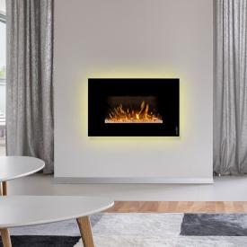 Wodtke feel the flame iVision electric fireplace with black decorative trim
