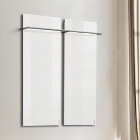 Wodtke feel warm infrared heater set with towel rail white, 850 Watt