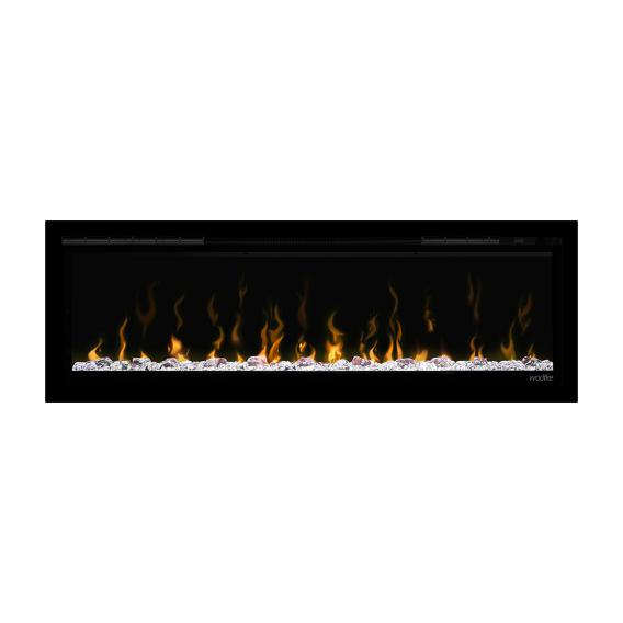 Wodtke feel the flame X-in recessed electric fireplace with black decorative trim