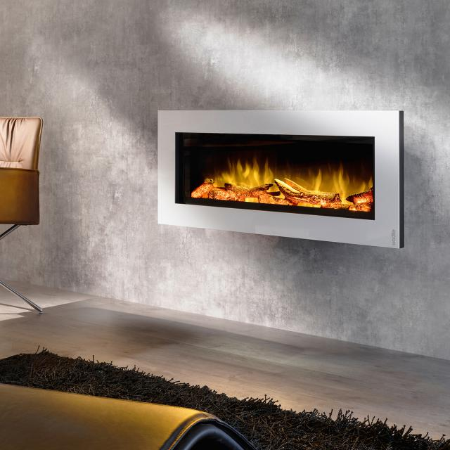 Wodtke feel the flame No. 1 prime electric fireplace with white decorative trim