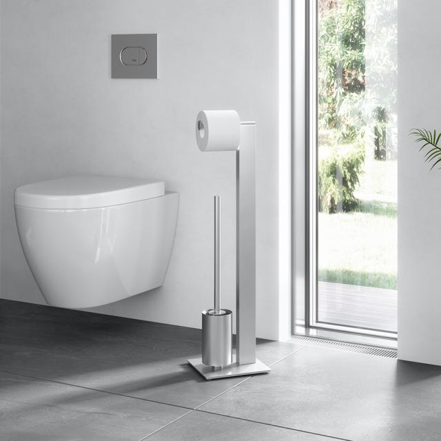 Zack ATORE toilet butler brushed stainless steel
