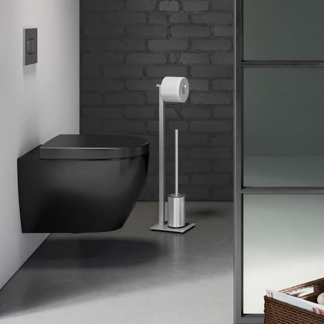 Zack CARVO toilet butler brushed stainless steel