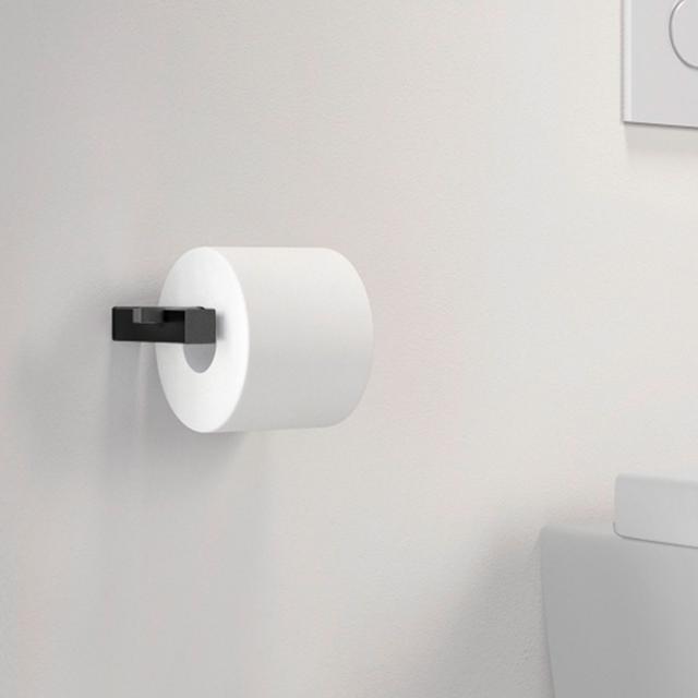 Zack CARVO toilet roll holder black