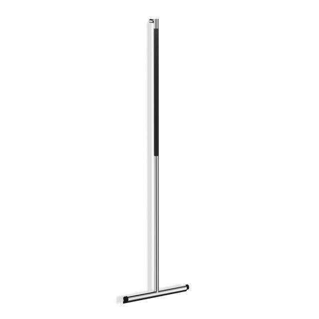 Zack JAZ floor squeegee with wall bracket polished stainless steel/black