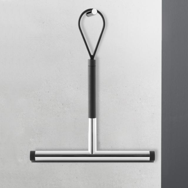 Zack JAZ squeegee, short polished stainless steel/black