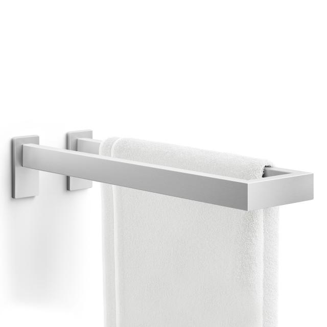 Zack LINEA double towel rail brushed stainless steel