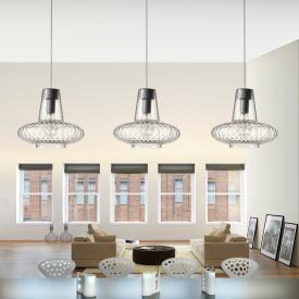 zafferano Giulietta pendant light 3 heads, long