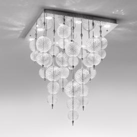 zafferano Regolo LED ceiling light, 9 heads