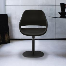 Zanotta Eva small armchair with single leg