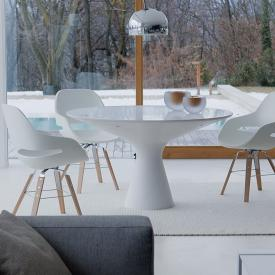 Zanotta Blanco dining table with glass plate