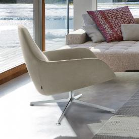 Zanotta Kent small armchair, real leather