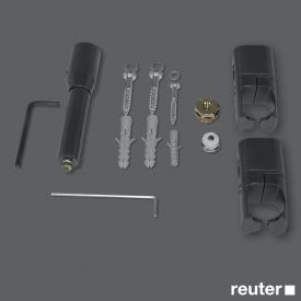 Zehnder installation kit for room divider with legs for electric Toga Anthracite A1