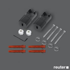 Zehnder installation kit for room divider without legs for Toga Anthracite A1