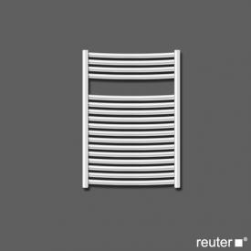 Zehnder janda warm water or mixed towel radiator Titane width 495 mm, 381 Watt