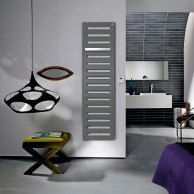 Zehnder Metropolitan Bar bathroom radiator for purely electrical operation grey aluminium, 750 Watt