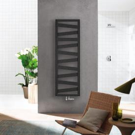 Zehnder Ribbon bathroom radiator for hot water or mixed operation volcanic, 398 Watt