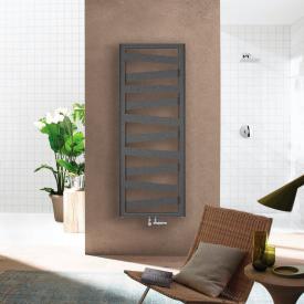Zehnder Ribbon Radiateur de salle de bains pour mode eau chaude ou mixte anthracite, 743 Watts