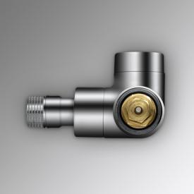 """Zehnder Series XE valve body, angled left 1/2"""" chrome"""