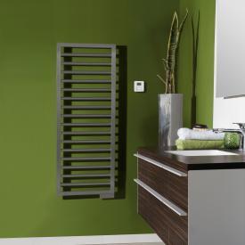 Zehnder Subway towel radiator for all electric operation grey aluminium, 500 Watt