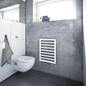 Zehnder Subway towel radiator for all hot water operation white, 310 Watt
