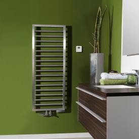 Zehnder Subway towel radiator for mixed operation with built-in heating element chrome, 336 Watt, 300 heating element