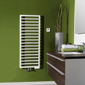 Zehnder Subway towel radiator for mixed operation with built-in heating element white, 509 Watt, 500 heating element