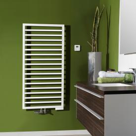 Zehnder Subway towel radiator for mixed operation with built-in heating element white, 639 Watt, 600 heating element
