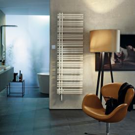 Zehnder Yucca Asym all electric towel radiator white, 600 Watt, single layer, right