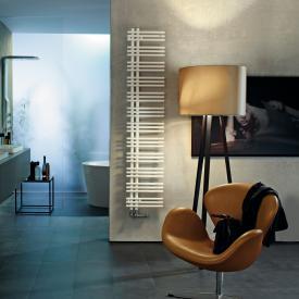 Zehnder Yucca asymmetrical warm water or mixed towel radiator white, single layer, 571 Watt