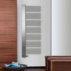 Zehnder Yucca Cover towel radiator for hot water or mixed operation titanium, 711 Watt, right, stainless steel cover