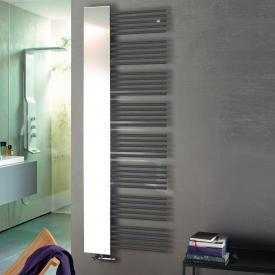 Zehnder Yucca Mirror towel radiator with mirror for hot water or mixed operation anthracite, 755 Watt