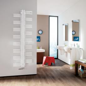 Zehnder Yucca bathroom radiator for hot water or mixed operation white, single-layer, 706 Watt