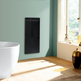 Zehnder Zenia thermal comfort unit for concealed mounting, purely electric black, hinged right