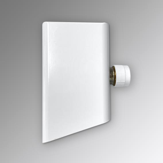 Zehnder fitting with short cover for Yucca, hot water operation only white