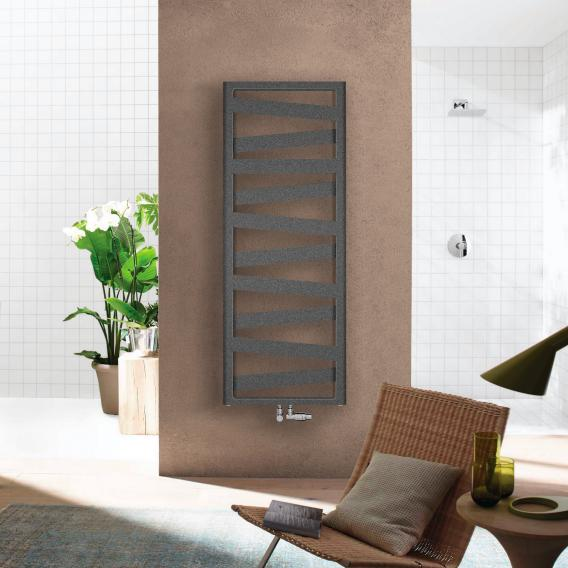 Zehnder Ribbon bathroom radiator for hot water or mixed operation anthracite, 743 Watt