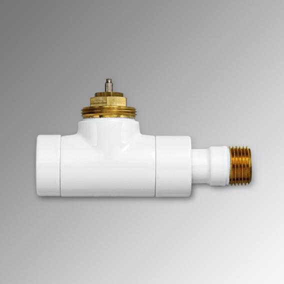 "Zehnder Series XE valve body straight 1/2"" white"