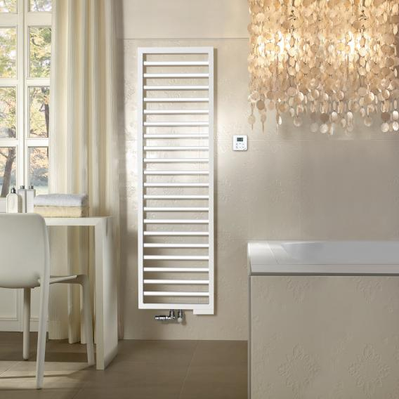 Zehnder Subway towel radiator for mixed operation with built-in heating element white, 615 Watt, 600 heating element