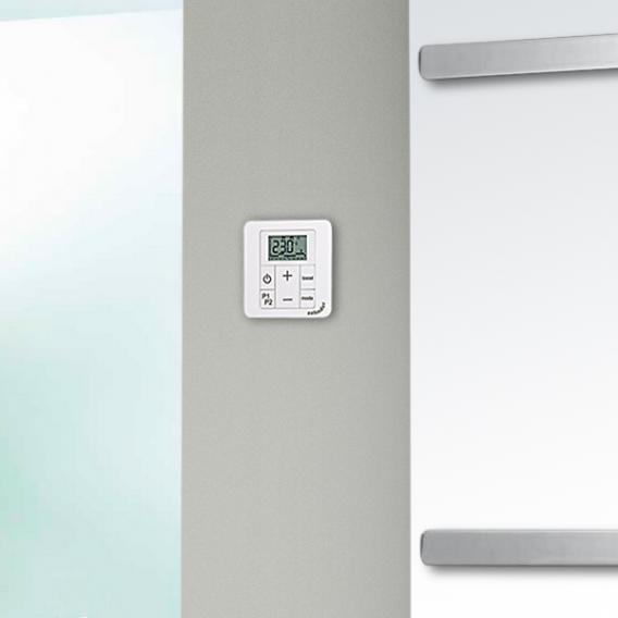 Zehnder Vitalo Bar bathroom radiator for purely electrical operation white, 1000 Watt