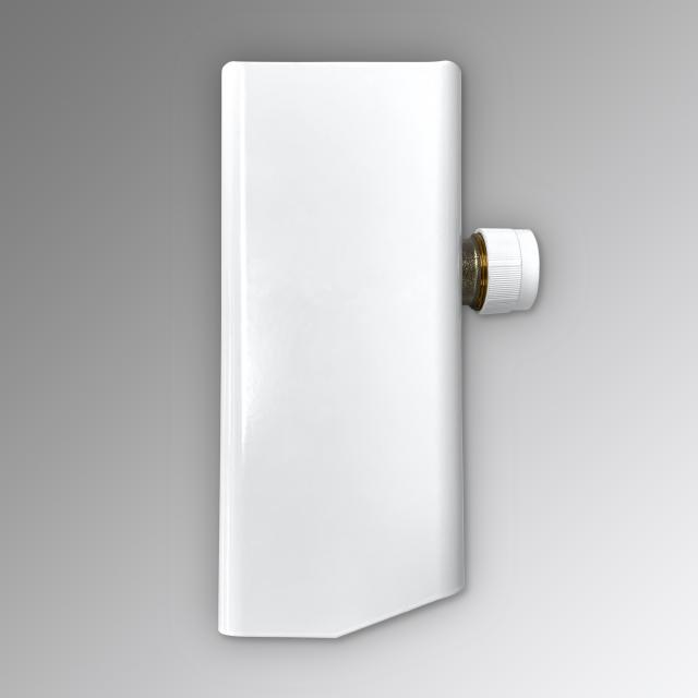Zehnder fitting with long cover for Yucca, hot water or mixed operation white