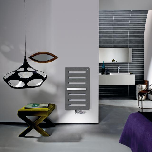 Zehnder Metropolitan Bar bathroom radiator for hot water operation grey aluminium, 323 Watt, normal version
