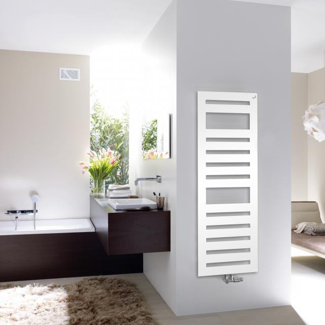 Zehnder Metropolitan Spa bathroom radiator for hot water operation white, 792 Watt