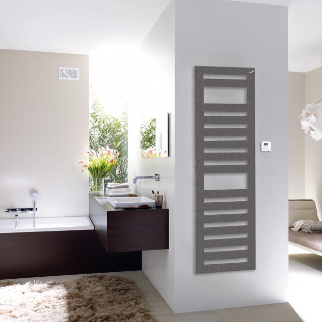 Zehnder Metropolitan Spa bathroom radiator for purely electrical operation grey aluminium, 900 Watt