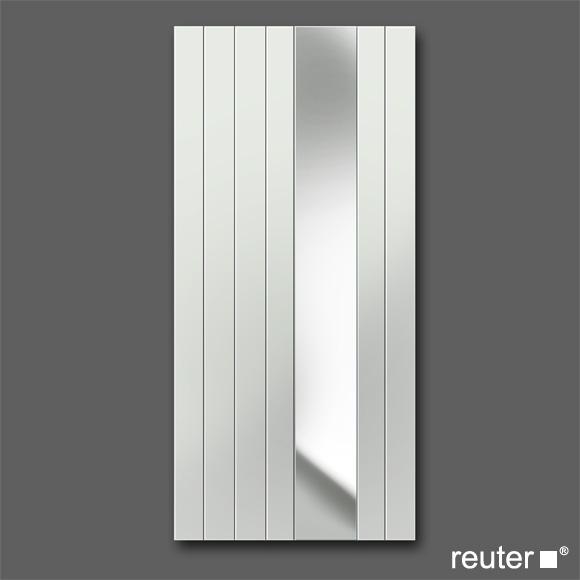 Zehnder nova mirror bathroom radiator Grey Aluminium width 638 mm, 732 Watt