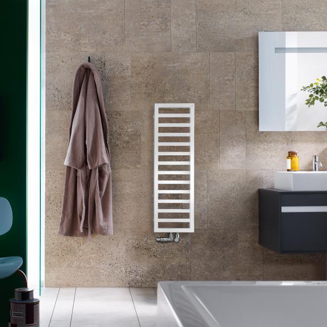 Zehnder Quaro towel radiator for hot water or mixed operation white, 299 Watt