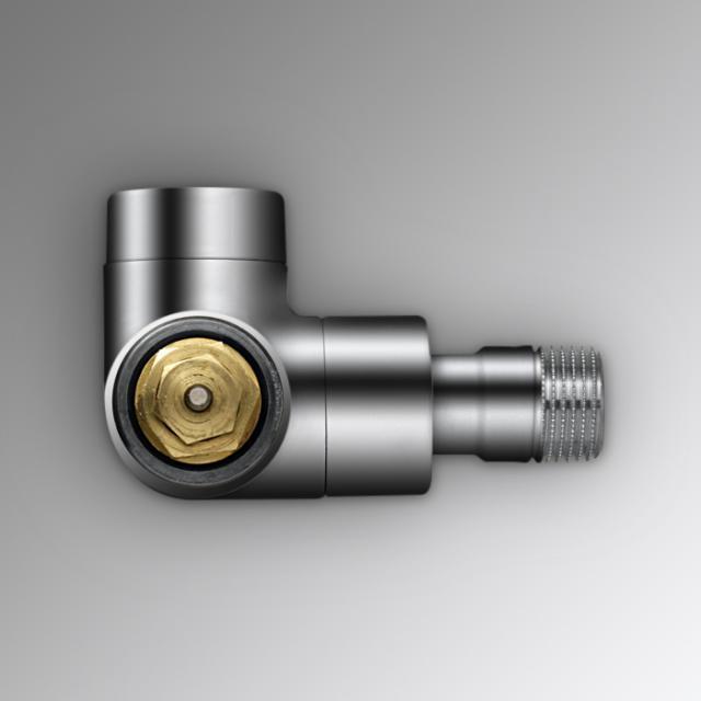 """Zehnder Series XE valve body, angled right 1/2"""" chrome"""