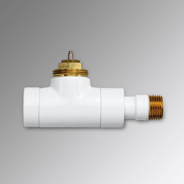 """Zehnder Series XE valve body straight 1/2"""" white"""