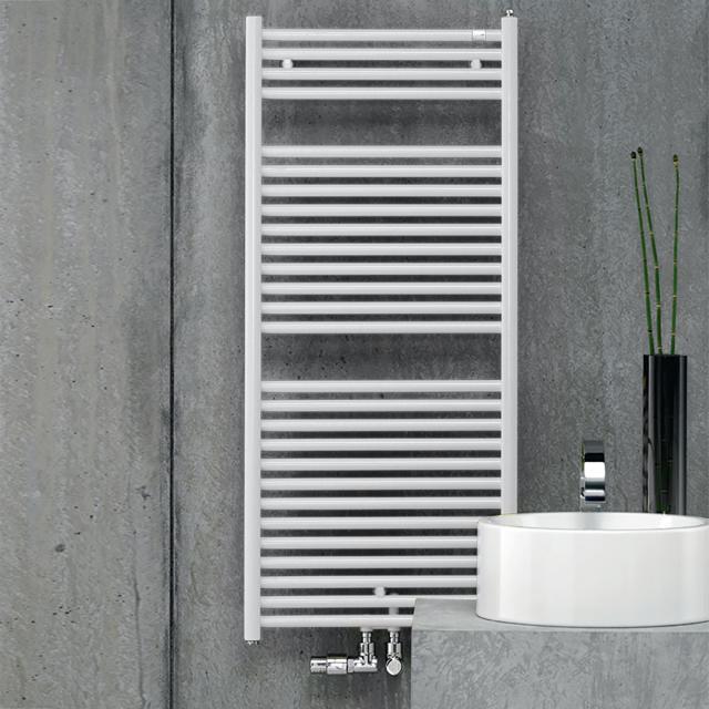 Zehnder Troja towel radiator for hot water or mixed operation white, 347 Watt