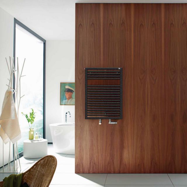 Zehnder Universal bathroom radiator for hot water or mixed operation volcanic, single layer, 477 Watt