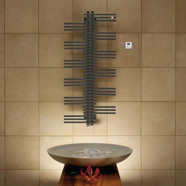 Zehnder Yucca bathroom radiator for purely electrical operation volcanic, 500 Watt