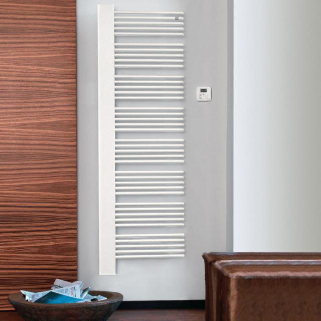 Zehnder Yucca Cover bathroom radiator for purely electrical operation white, 750 Watt, right, white cover